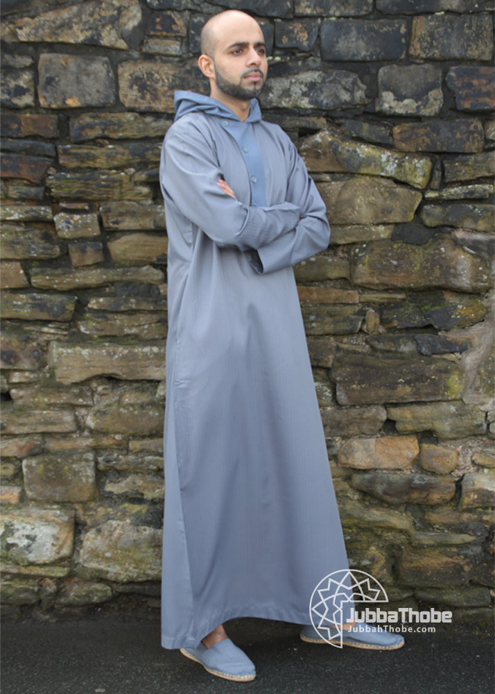 4 Button Grey Hooded Jubba