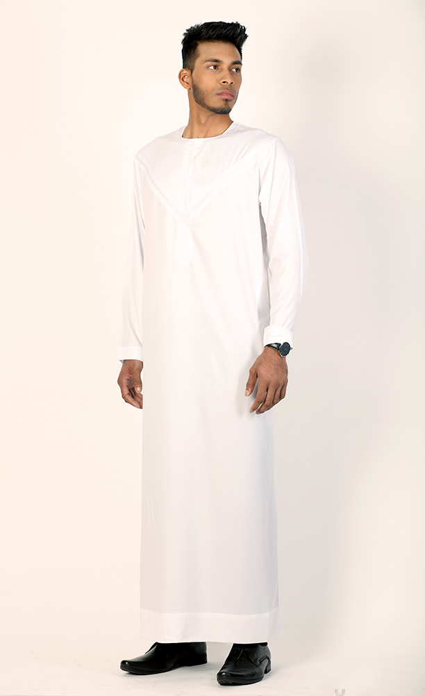 Omani Jubba New White