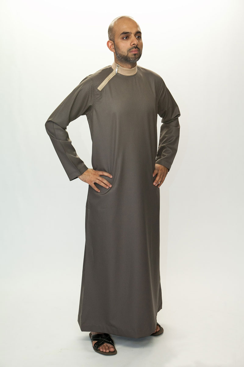 Side Zip Brown Jubba