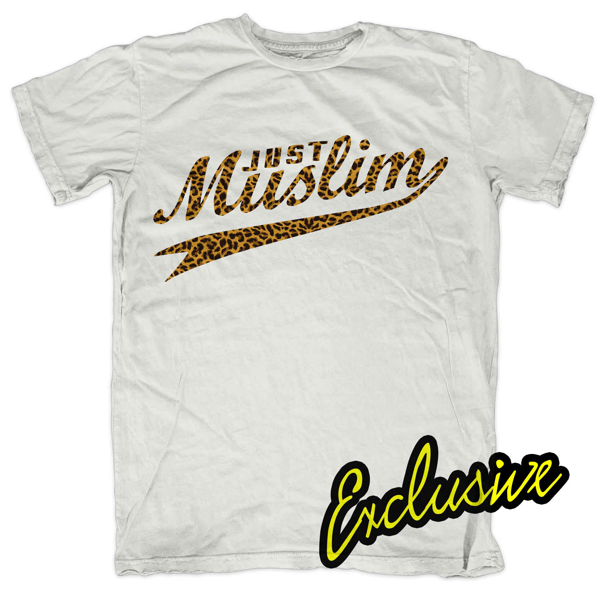White Muslim Design T shirt