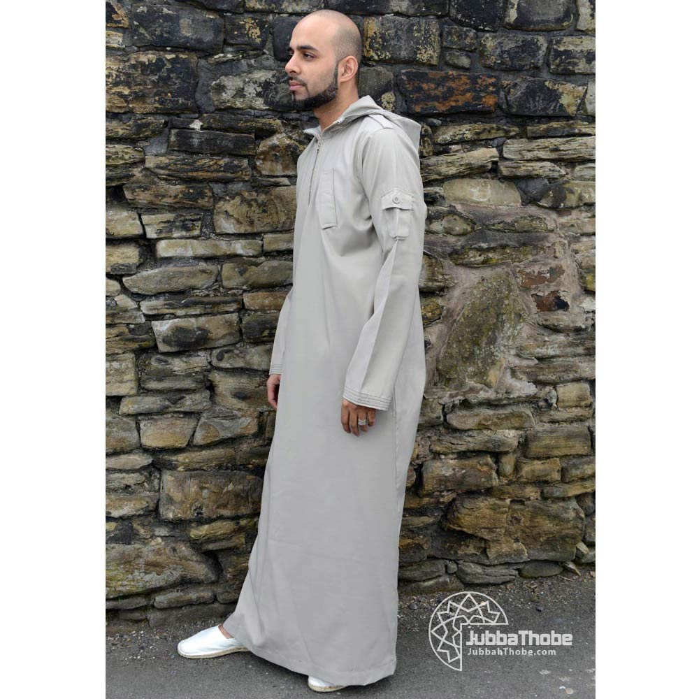 Beige Hooded Urban Jubba Thobe