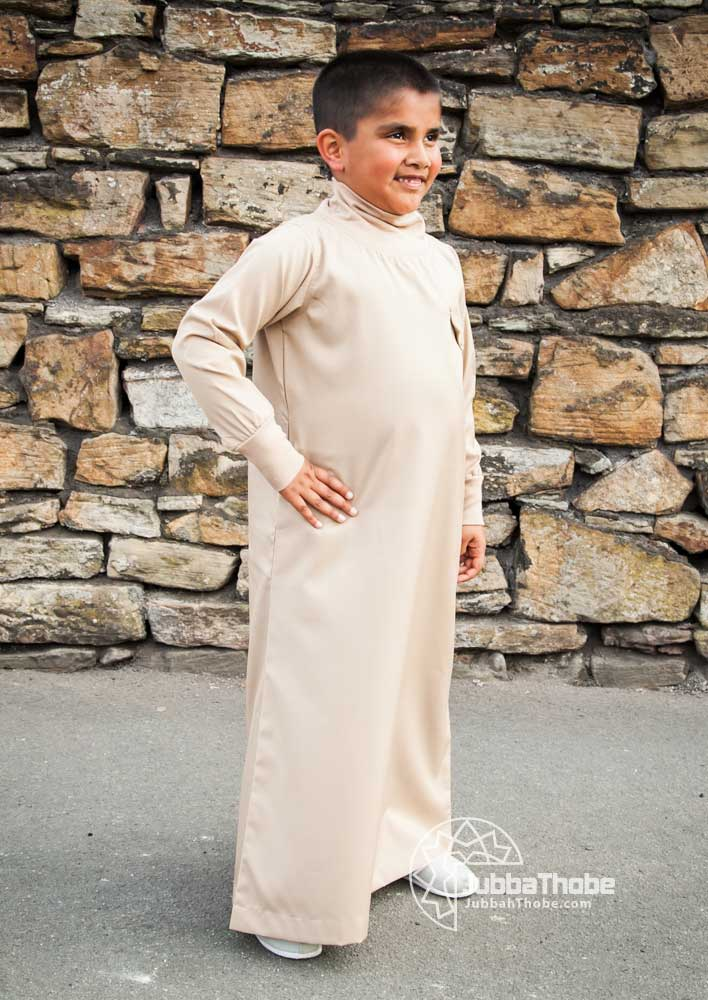 Beige Polo Neck Children Jubba