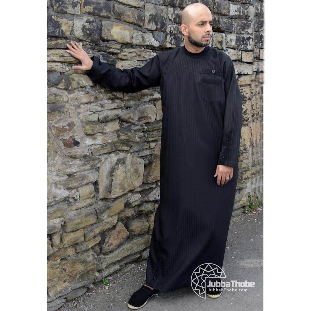 Black Button Cuffs Jubba Thobe