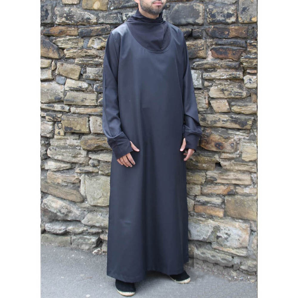 Black Cowell Neck Jubba