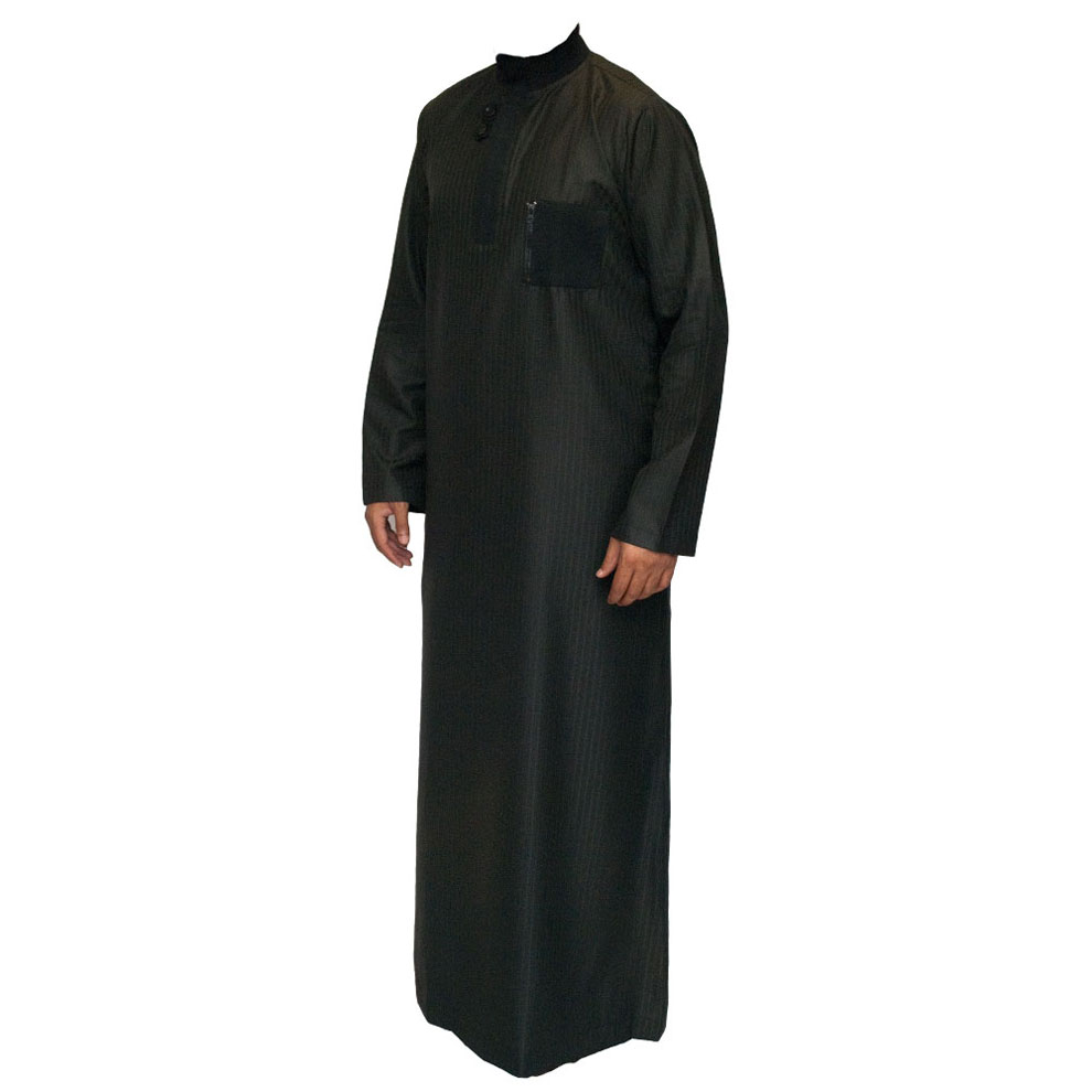 Black Double Loopy Muslim Jubba Thobe