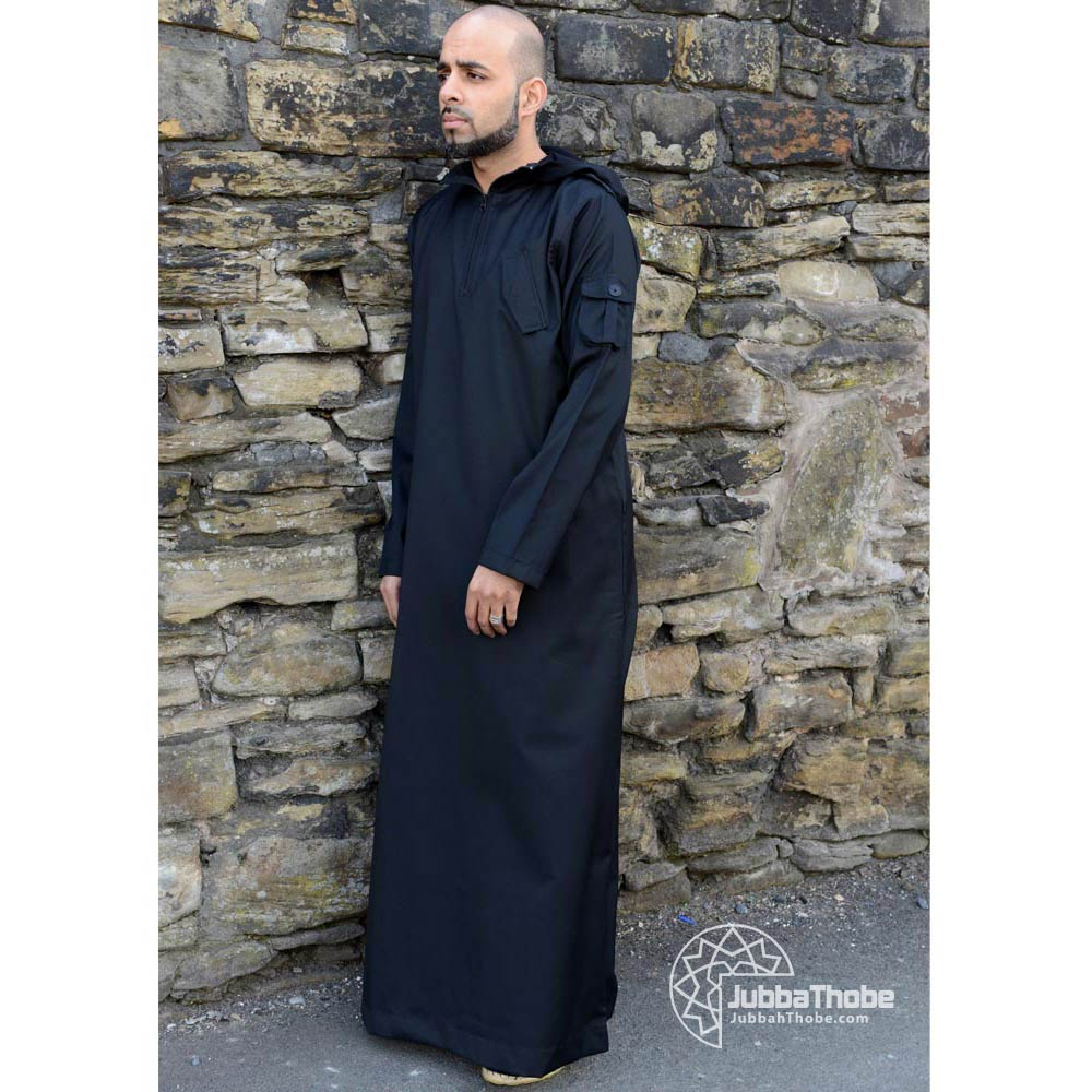 Black Hooded Urban Jubba Thobe