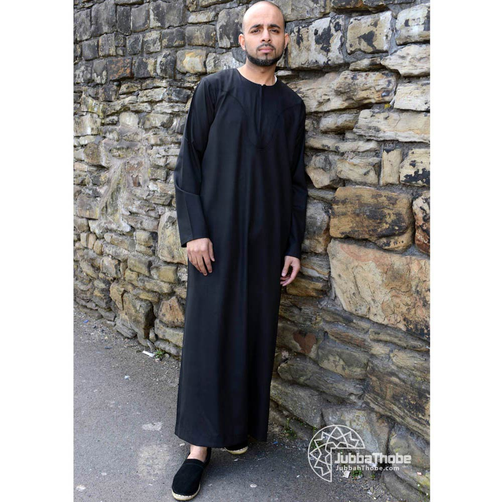 Black Omani Islamic Jubbah