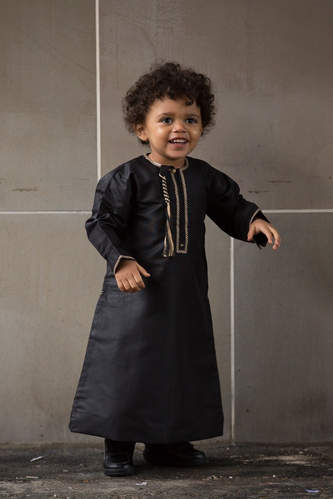 Boys Black Omani Jubbah