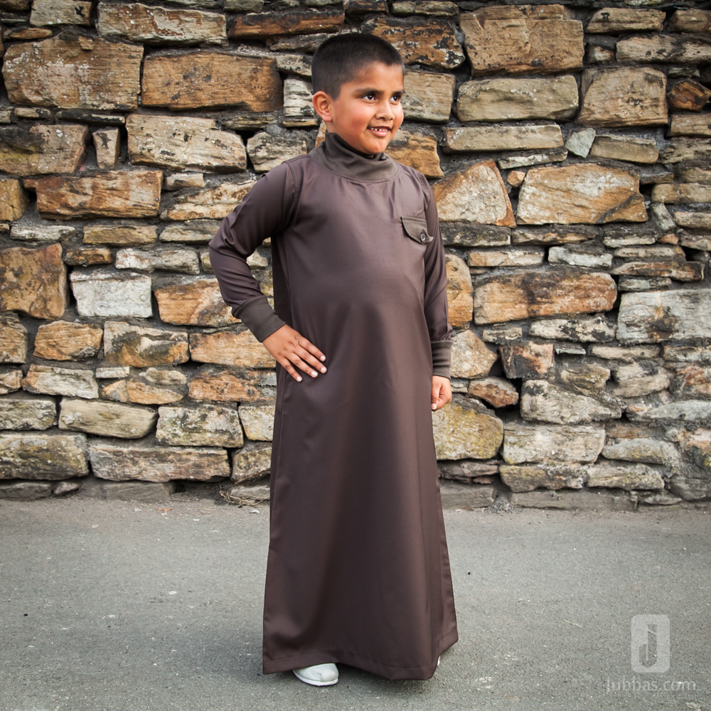 Brown  Polo Neck Children Jubba