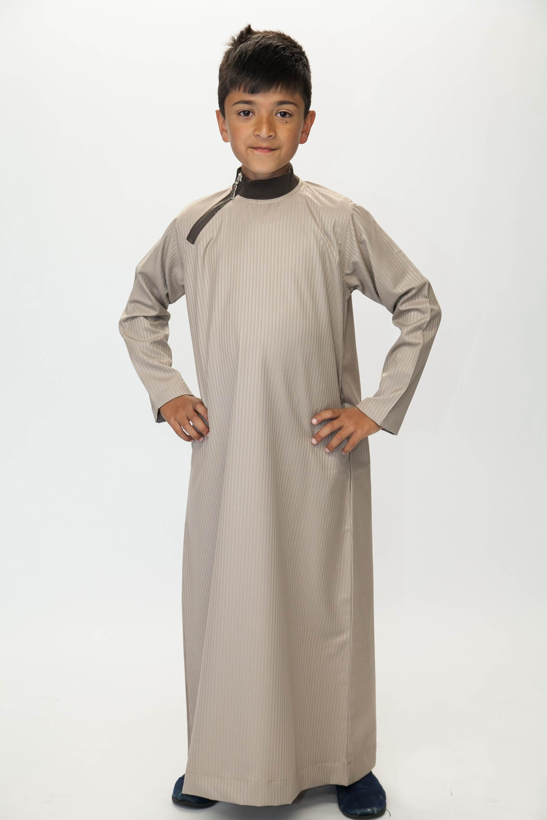 Boys Side Zip Beige Jubba