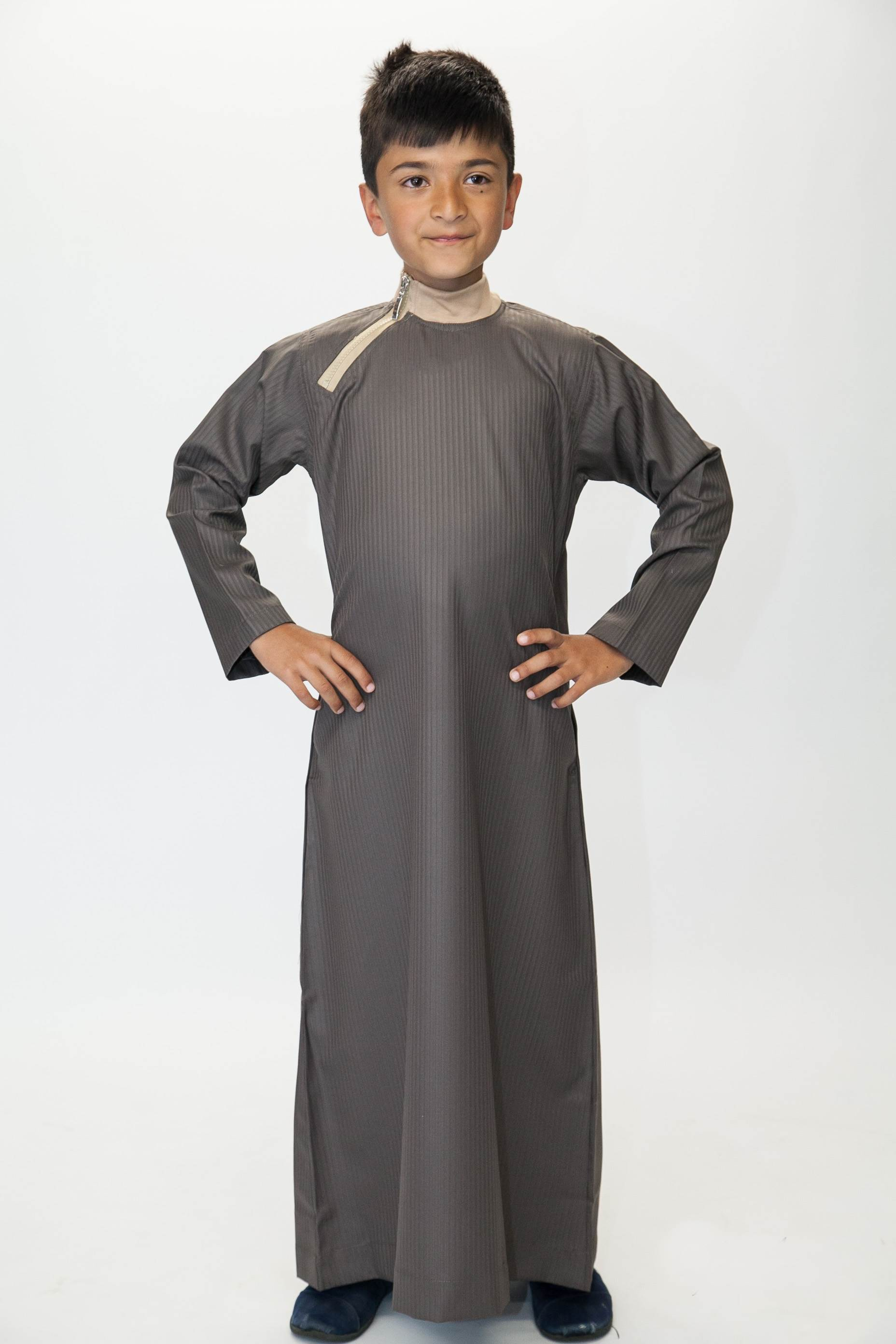 Boys Side Zip Jubba Brown