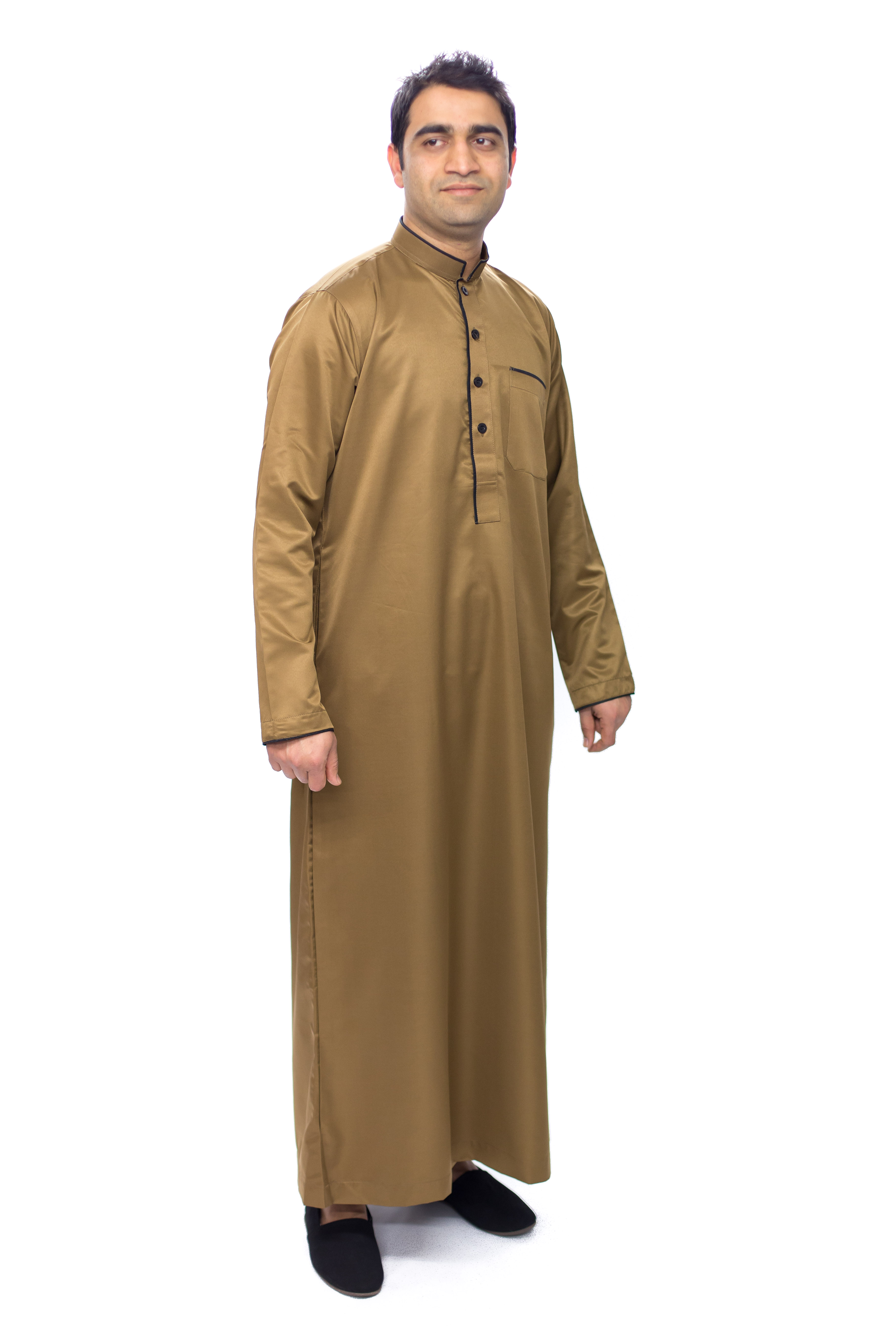 Brown Pipping Mens Jubba