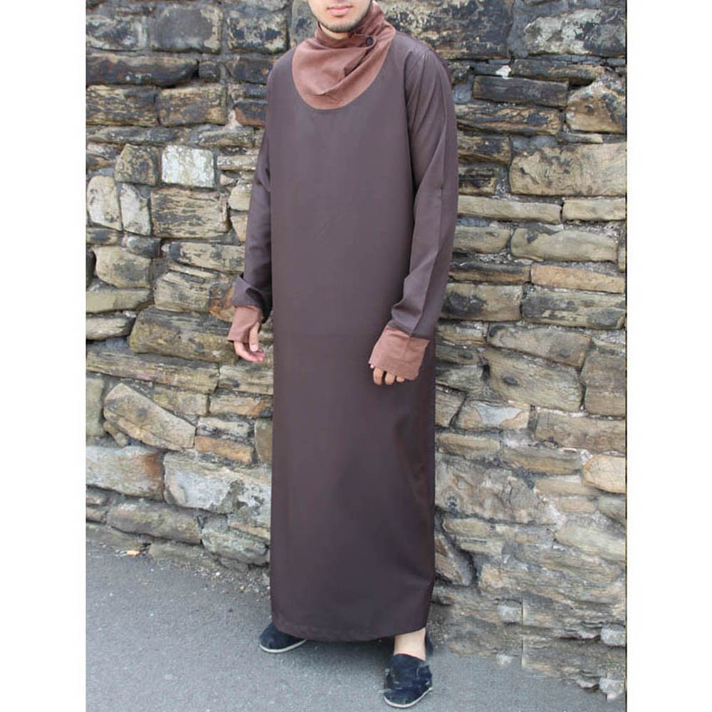 Brown Cowell Neck Jubba