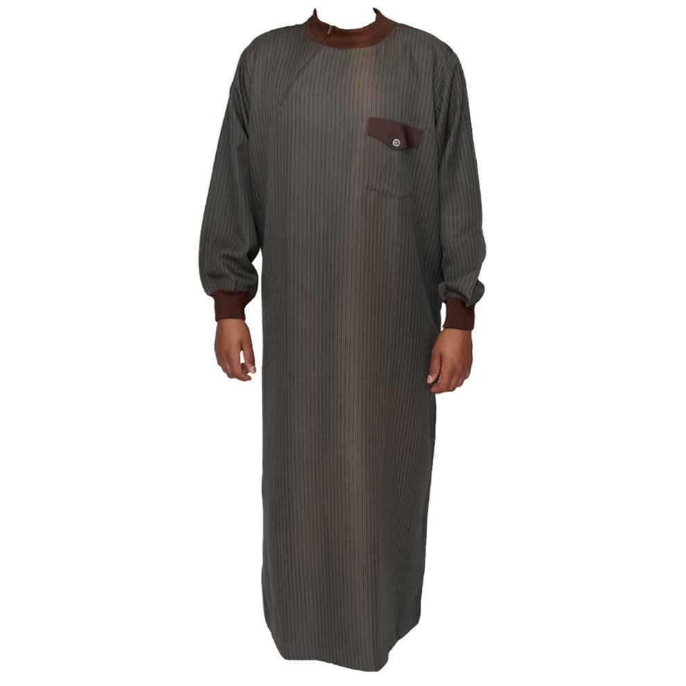 Brown Cuff Neck Jumper Jubba Thobe