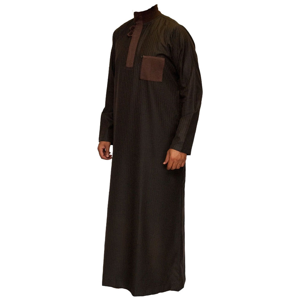 Brown Double Loopy Muslim Jubba Thobe