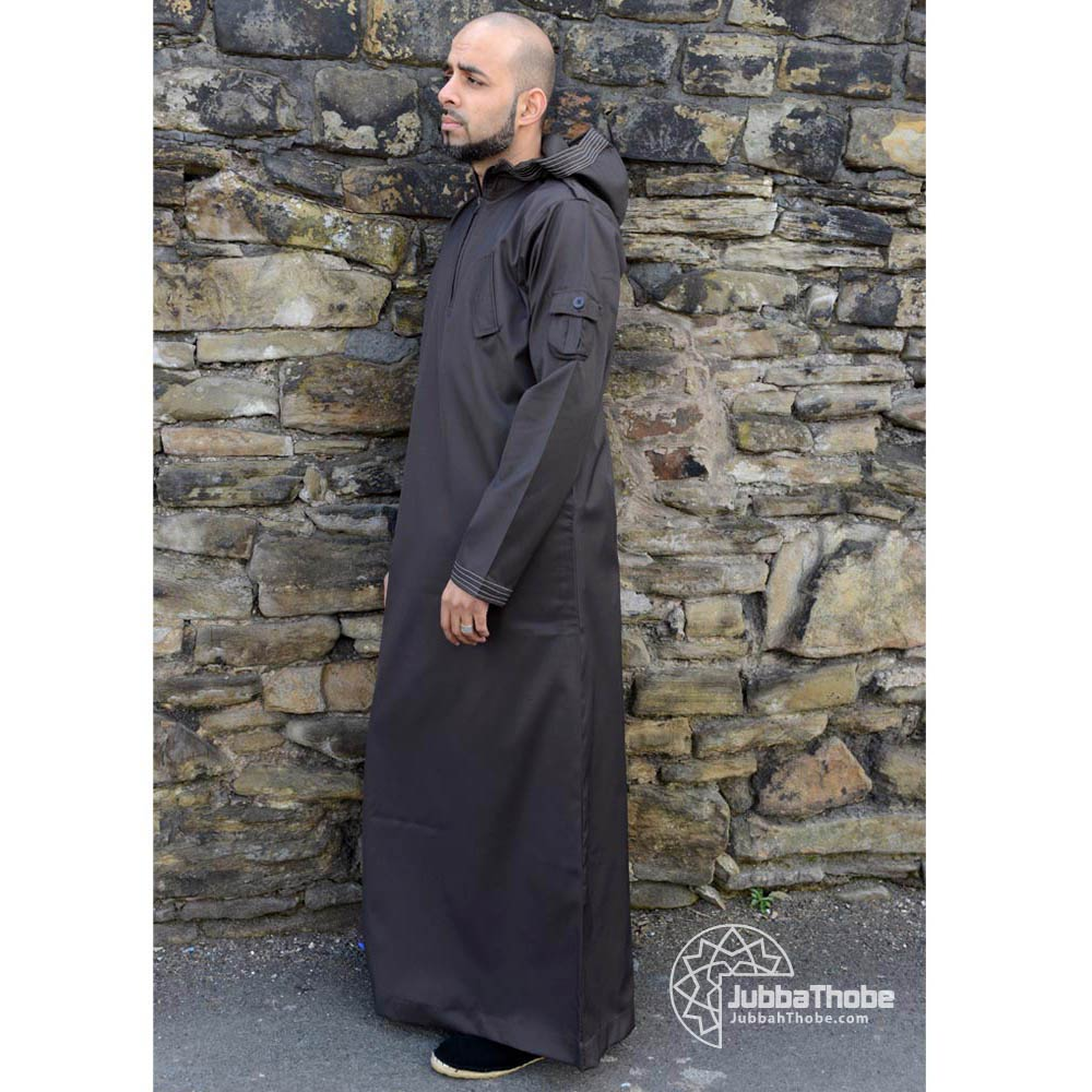 Brown Hooded Urban Jubba Thobe