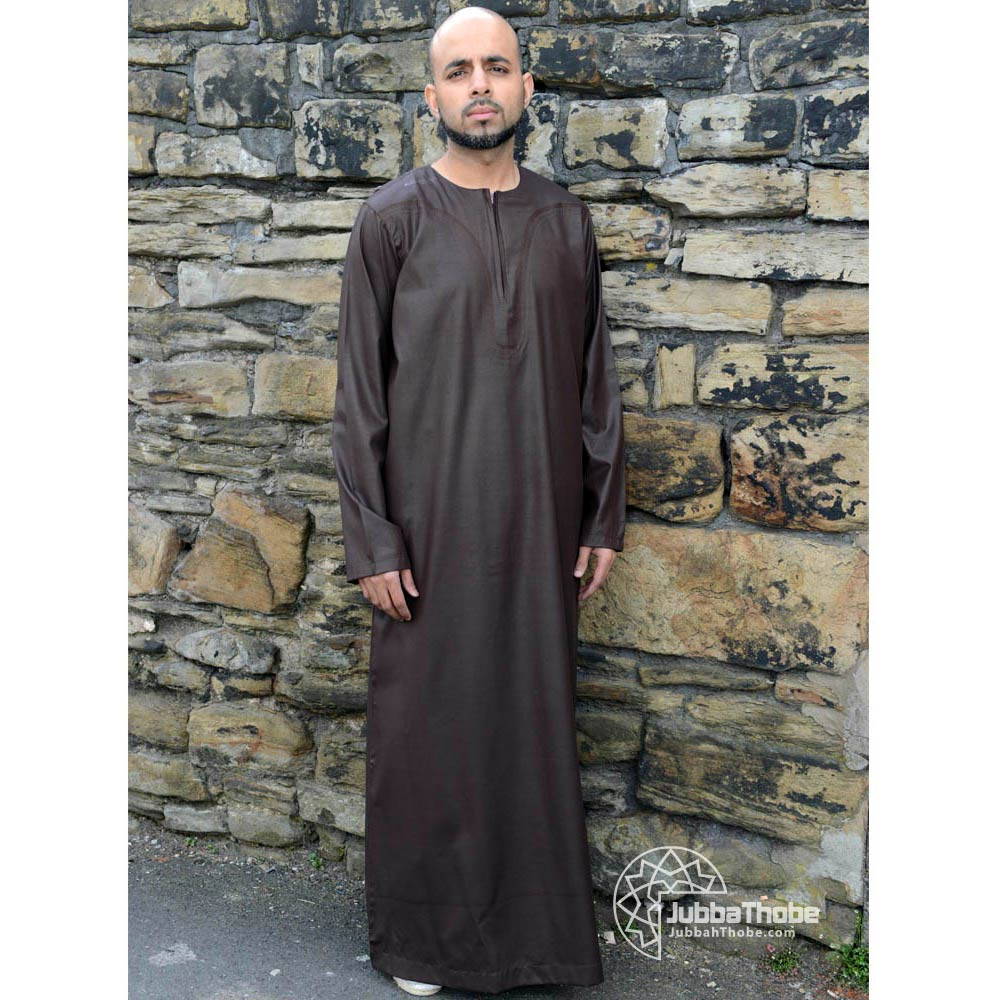 Brown Omani Islamic Jubbah