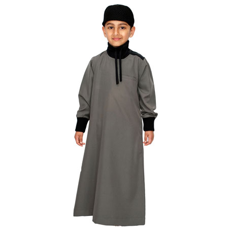 Charcol Grey Polo Neck Stylish Children Jubba