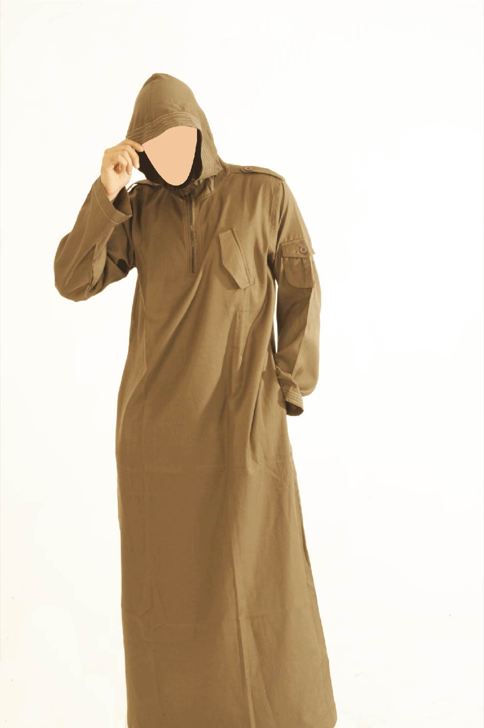 CM Brown Hooded Jubba