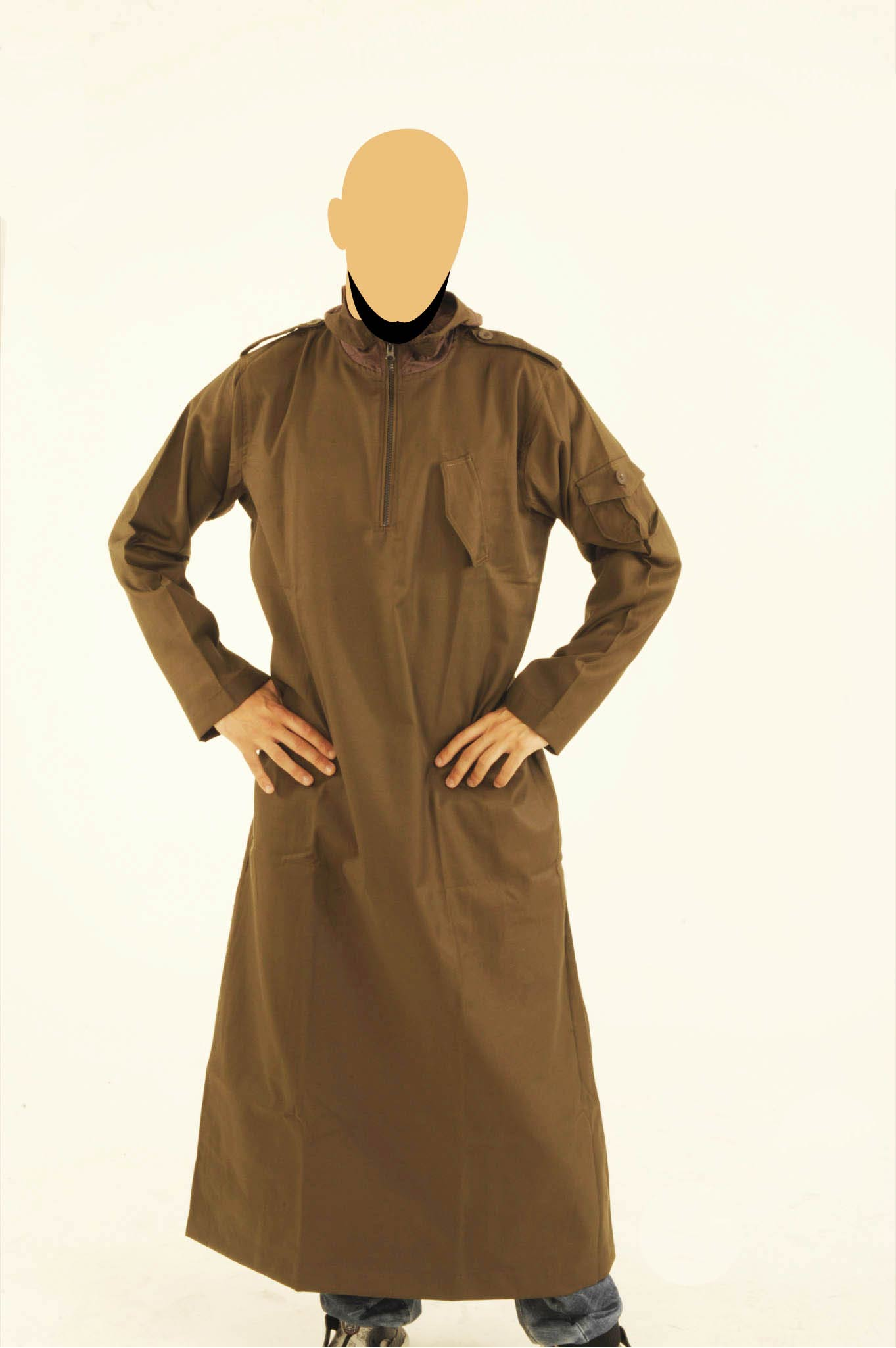 CM Dark Brown Hooded Jubba