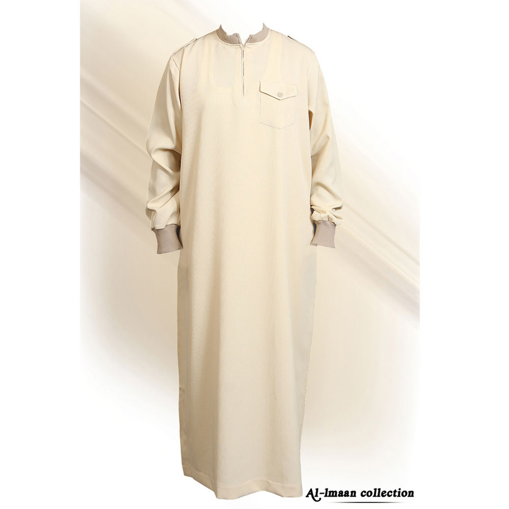 Cream Coller Jumper Cuff Jubba Thobe