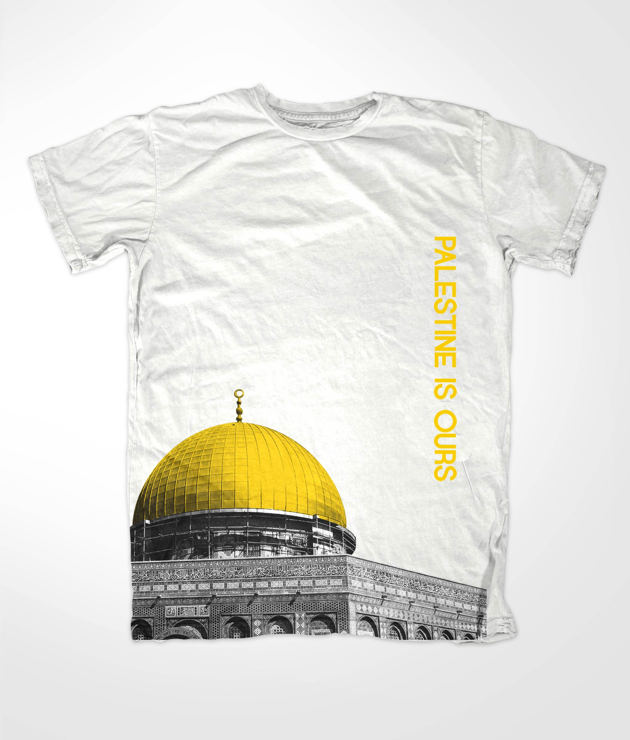 Design t shirt muslim - Dome Of Rock White Tees