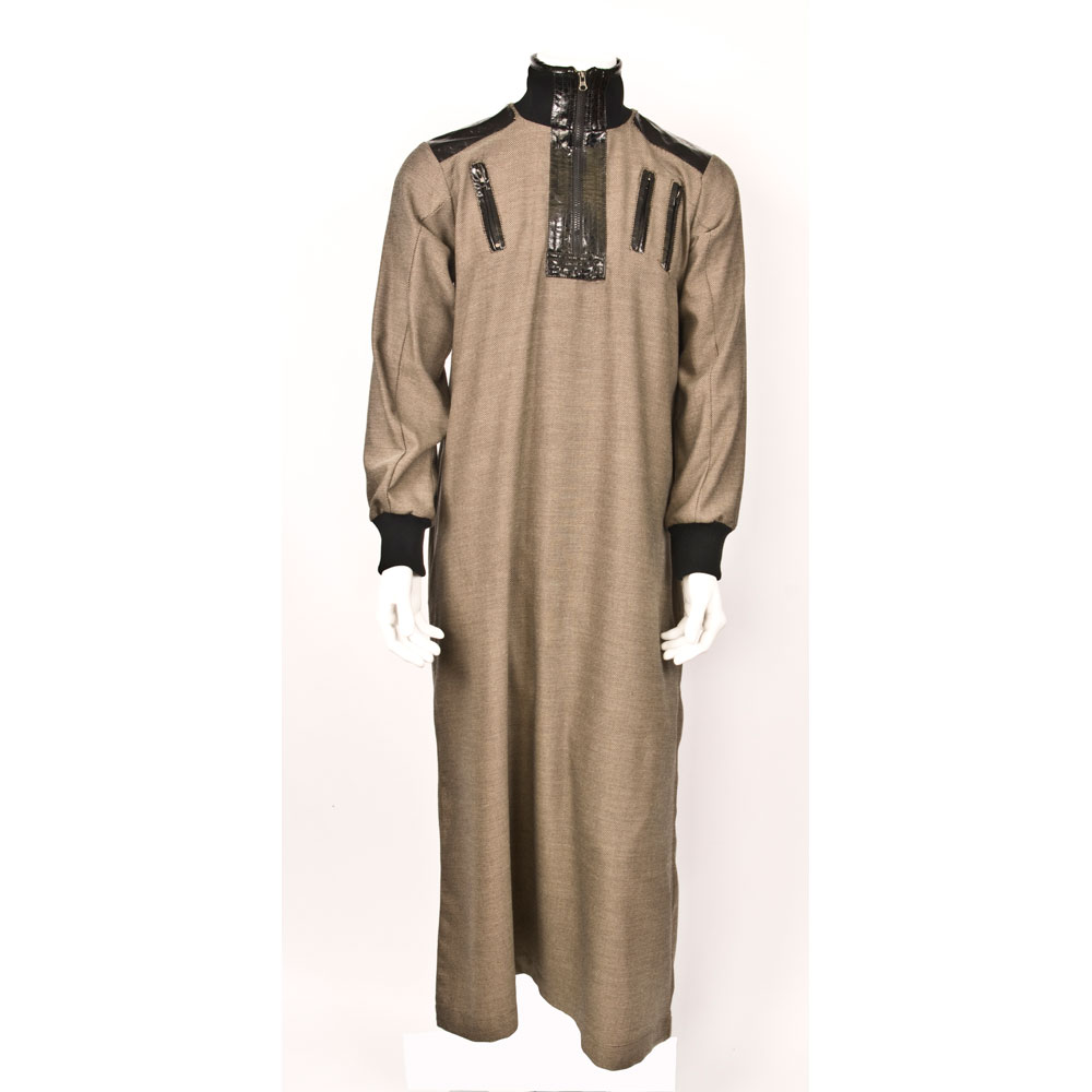 Double Zipper Brown Jubbah