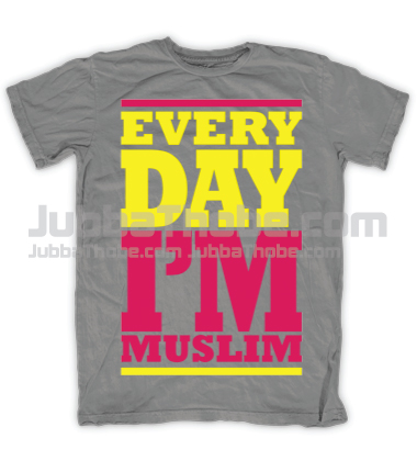 Every Day Im Muslim Pink Grey T Shirt