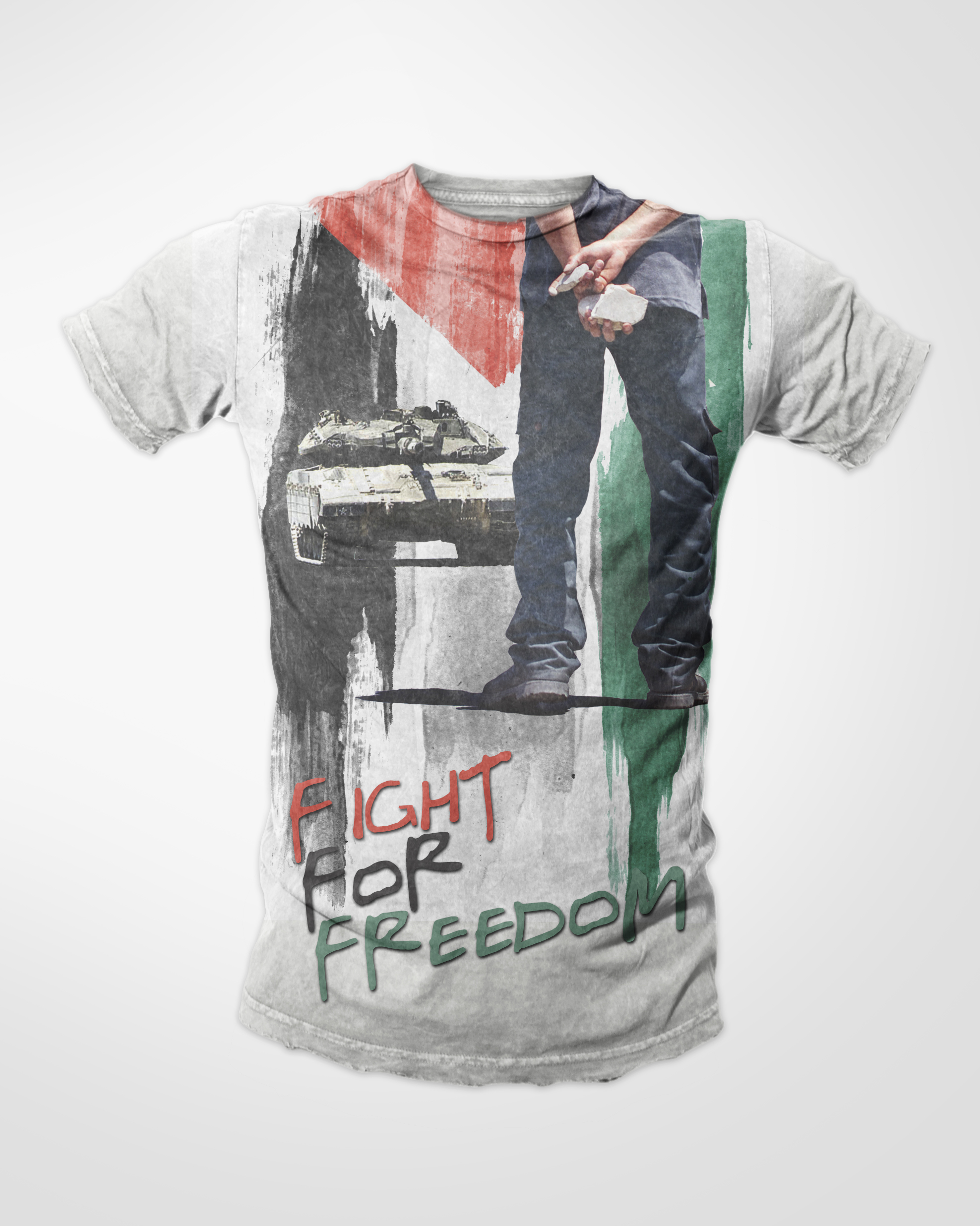Design t shirt muslim - Fight For Freedom Double Sided Muslim T Shirt
