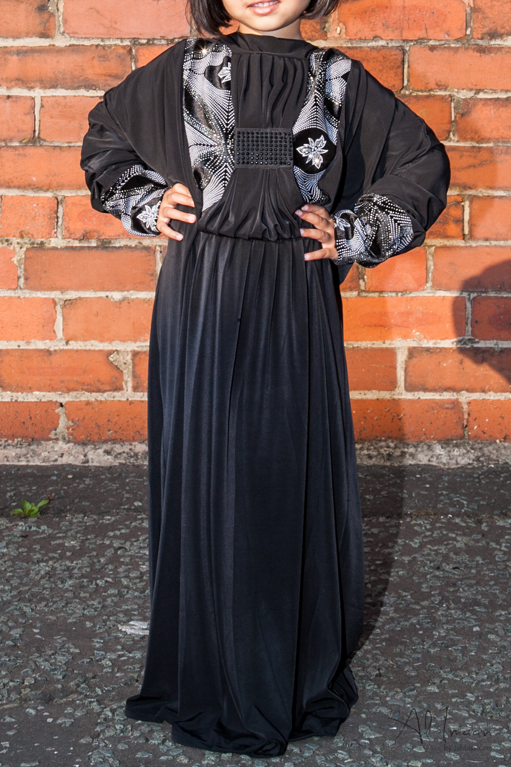 Black Butterfly Girls Abaya