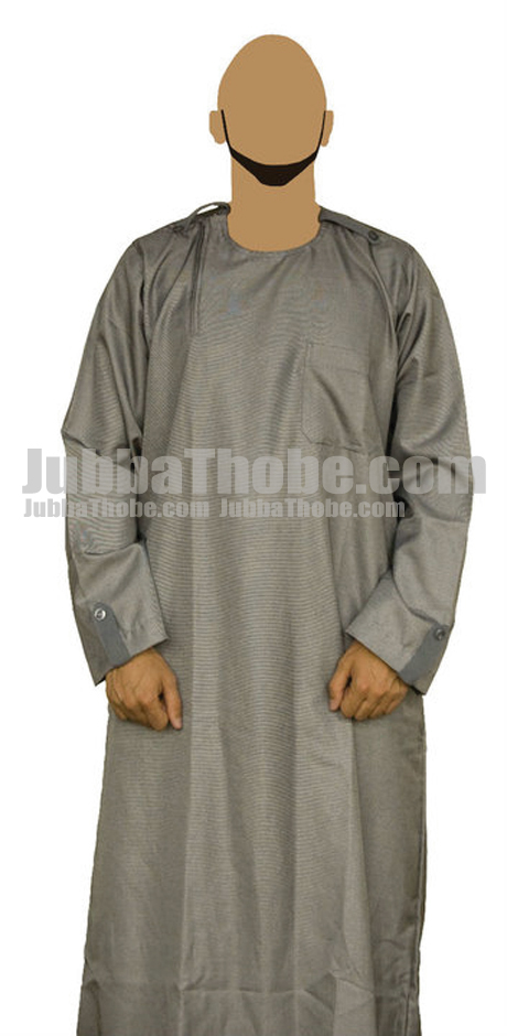 Gray Light Men Fashion Jubba Thobe