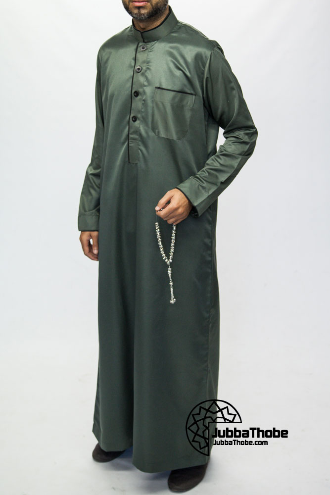 Green Mens Pipping Jubba