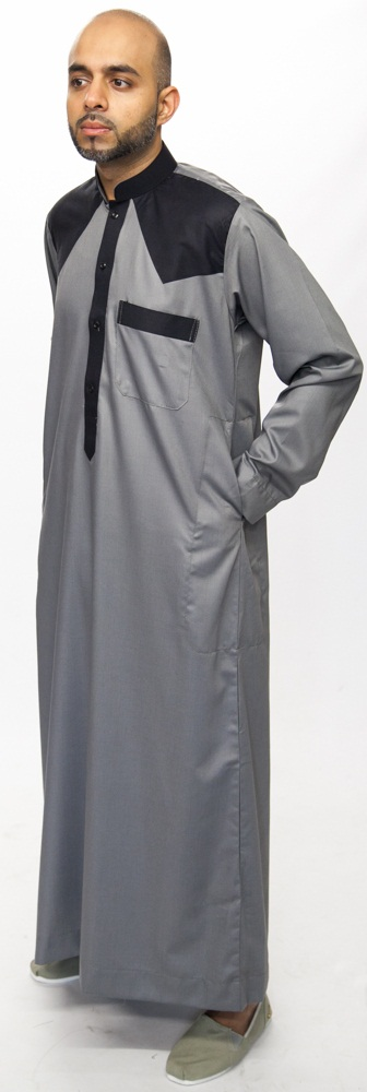 Grey New Juyubsh Jubba Thobe