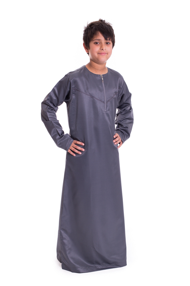 Grey Boys Omani Jubba