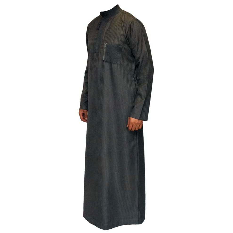 Grey Double Loopy Muslim Jubba Thobe
