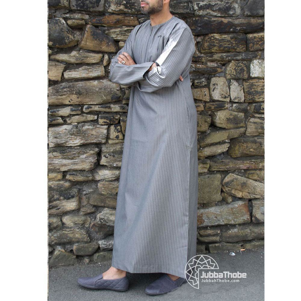 Grey Double Zipper Jubba