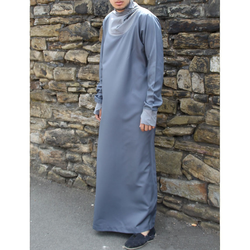 Grey Cowell Neck Jubba