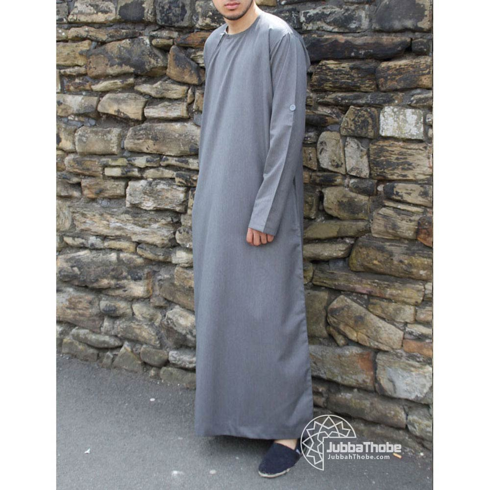 Grey Roll Down Jubba