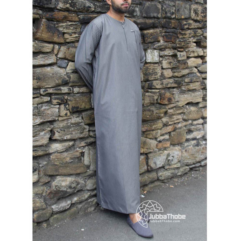 Grey Urban Zipped Jubba