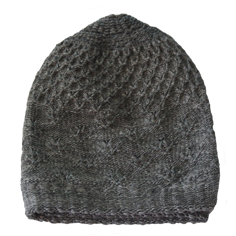 Grey Warm Prayer Hat