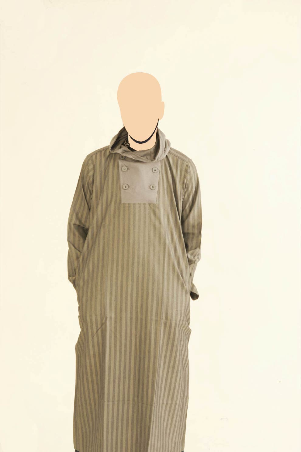 Grey Recolite Line Hooded Jubba