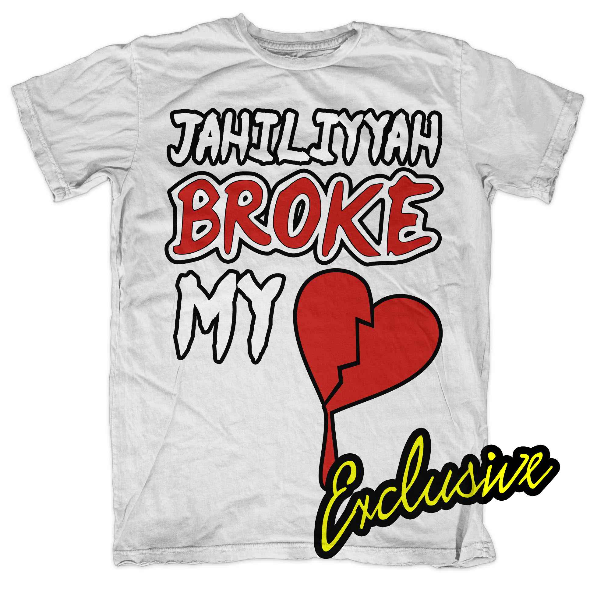 Jahiliyyah Broke My Heart White T-shirt