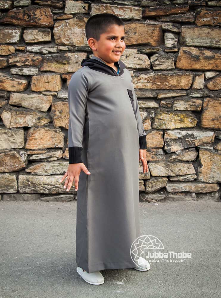 Khaki Hooded Children Jubba