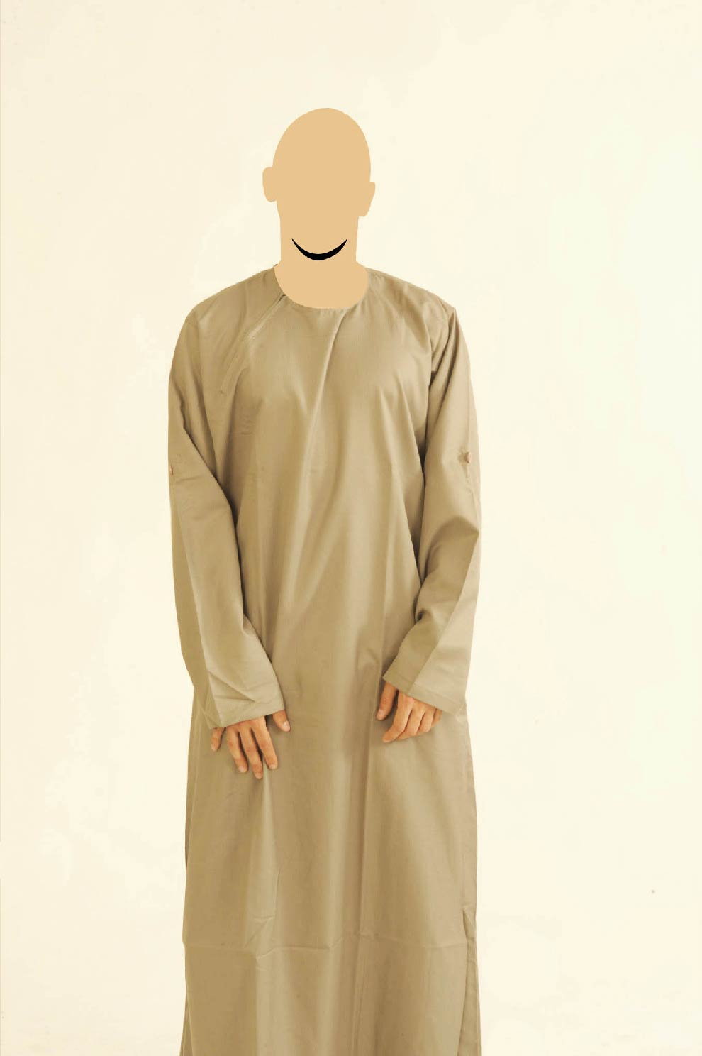 Khaki Ibiza Side Zip Jubba