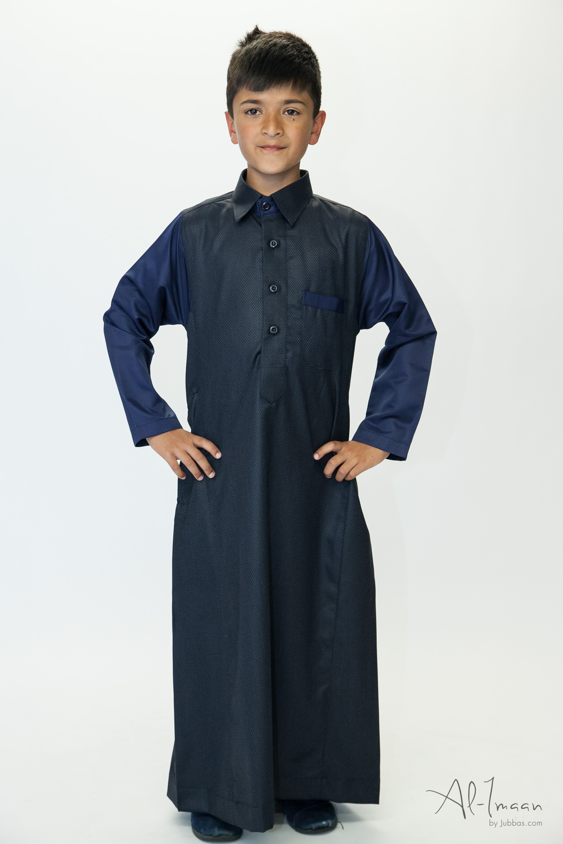 Boys Shirt Collar Jubba Nevy Blue
