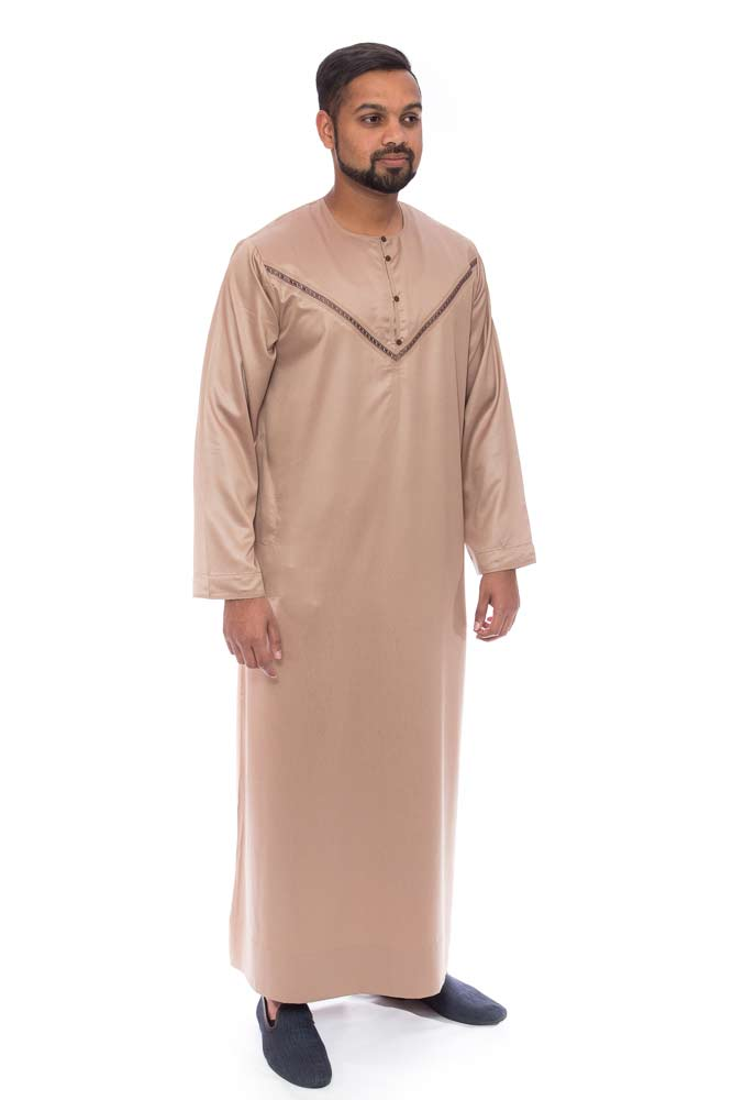 Rosy Brown Emirati Mens Jubba