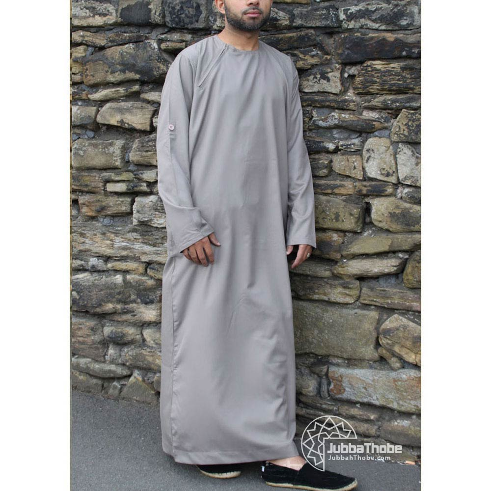 Light Grey Roll Down Jubba
