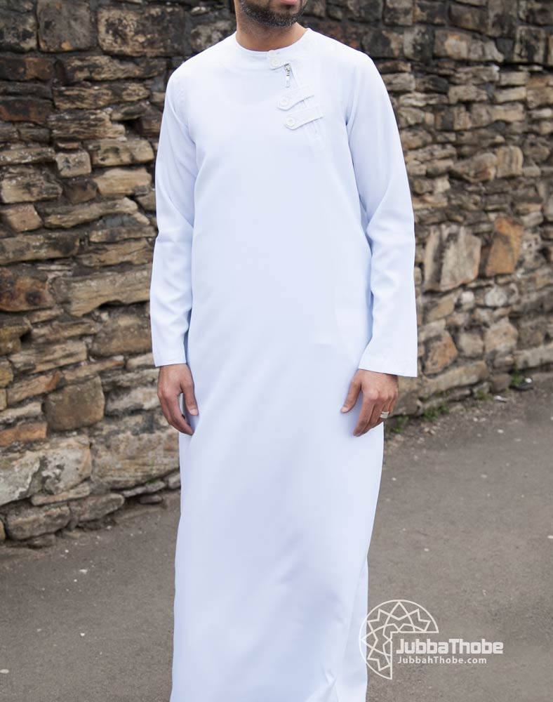 Loop Zip White Jubba