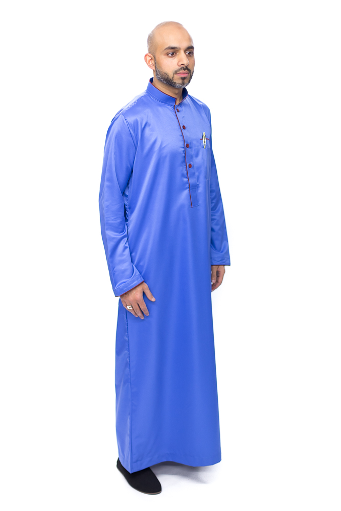 Royal Blue New Pipping Jubba
