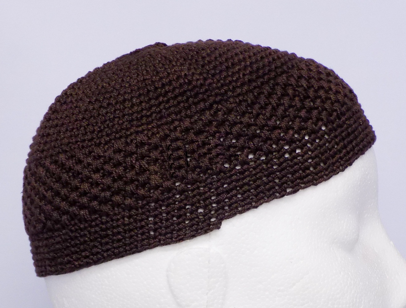 Dark Brown Knitted Prayer hat